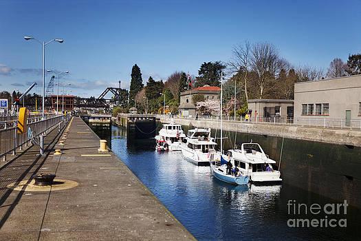 Jo Ann Snover - Boats in Ballard Locks