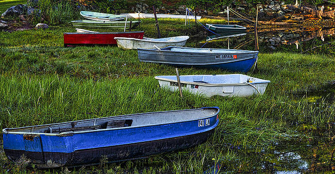 Steven Ralser - Boats in Marsh - Cape Neddick - MAine