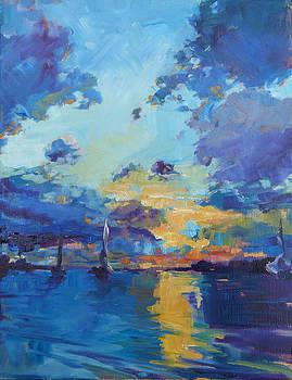 Boats in the Harbor by Azhir Fine Art