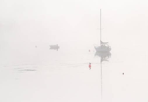 Boats in the Mist 1. Tantallon. Nova Scotia. by Rob Huntley