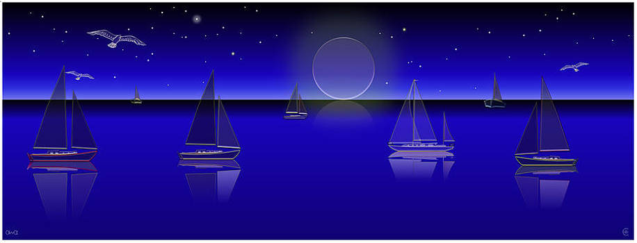 Boats in the Night by Ethos Lambousa
