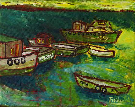 Boats in Valparaiso by Rafael Fischer