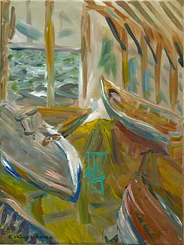 Edward Ching - Boats Inside Gannon and Benjamin