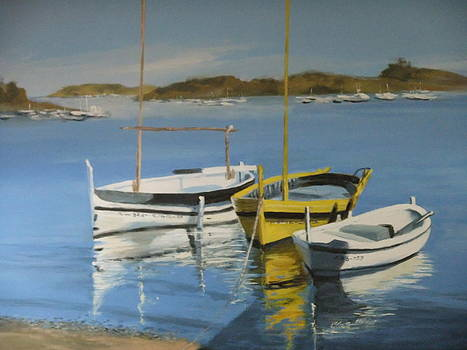 boats of Cadaques by Clive Holden
