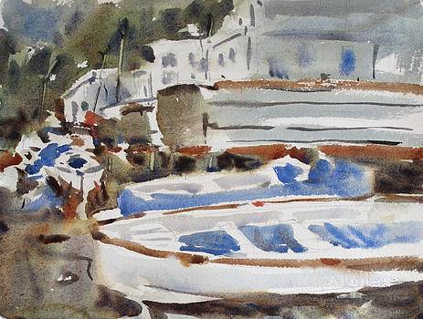 Boats of Capri by Owen Hunt