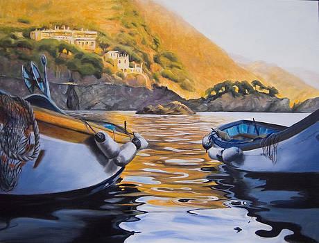 Boats of Cinque Terre by Conny Riley