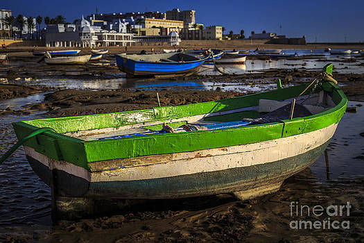 Boats on La Caleta Cadiz Spain by Pablo Avanzini