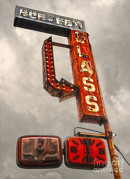 Gregory Dyer - Bob and Eds Glass - Retro Sign