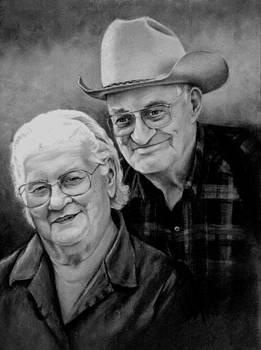 Bob and June McDaniels by Artist Karen Barton