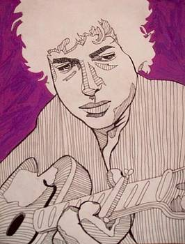 Bob Dylan  by Mitchell Lewis
