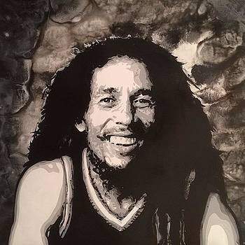 Bob Marley I Painted Over The Holidays by Ocean Clark