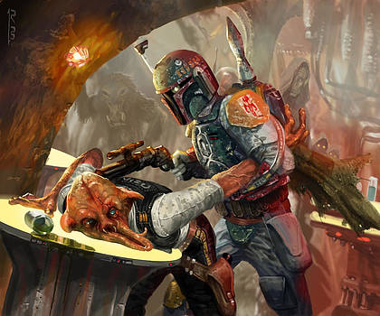 Boba Fett - Star Wars the Card Game by Ryan Barger
