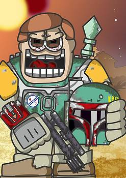 Boba Fett Freaky Like by James Griffin