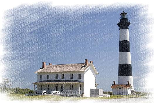 Jill Lang - Bodie Island Lighthouse in Chalk