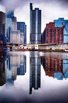Boeing Building Lake and Wacker 12-2-13 by Michael  Bennett