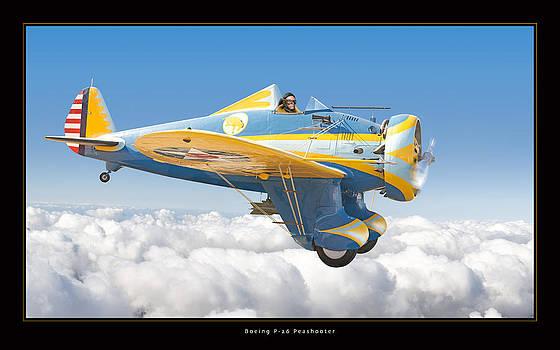 Boeing P-26 Peashooter by Larry McManus