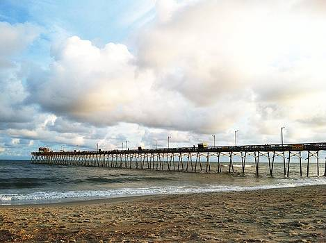 Bogue Inlet Fishing Pier  by Jessica Yudis
