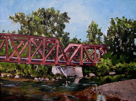 Boise Greenbelt 1923 Bridge by Les Herman