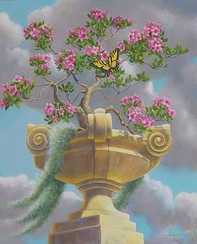 Bonsai in Urn      A by Bonnie Golden
