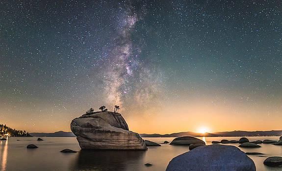 Bonsai Rock and Milky Way by Tony Fuentes