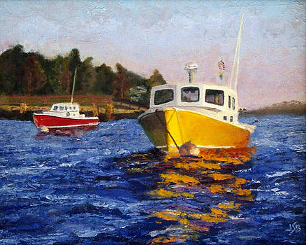 Boothbay Boats by Jennifer Braxton