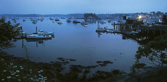 Boothbay Harbor at Night by Steven A Simpson