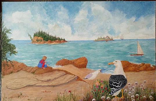 Boothbay Harbor Lookout by Tommy Rubel