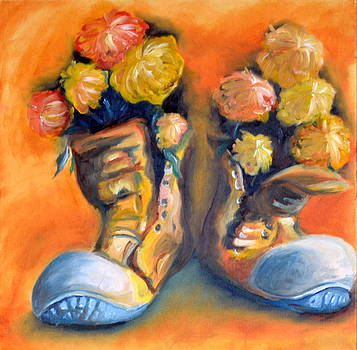 Bootie flowers by Celina Frisson