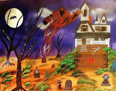 Haunted Halloween Art by Amy LeVine