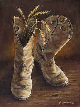 Boots and Wheat by Kim Lockman