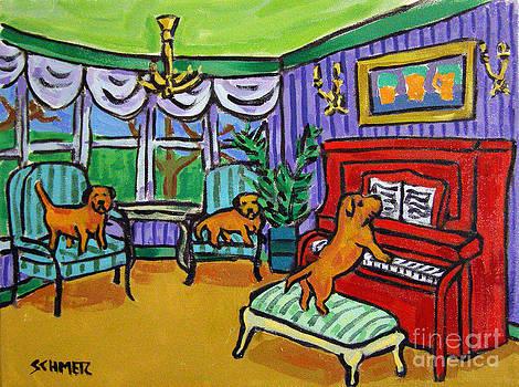 Border Terrier Piano Concert by Jay  Schmetz