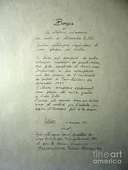 Alessandra Di Noto - Borges credits