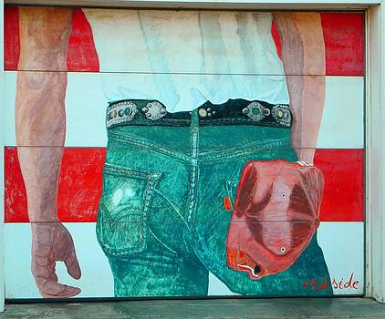 Born in the USA Urban Garage Door Mural by Chris Berry