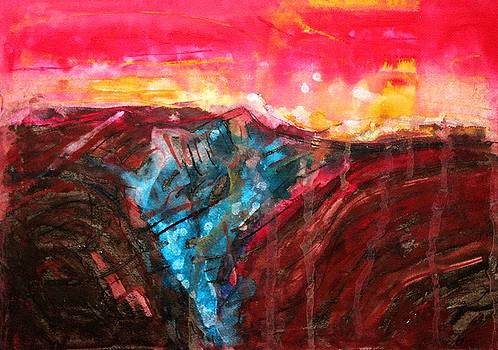 Borrego Badlands original painting by Sol Luckman