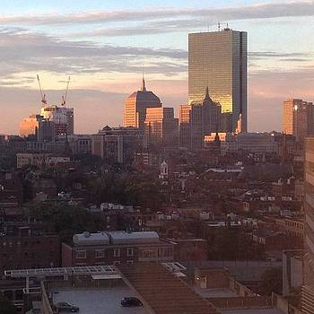 Boston At Sunset by Mel Garvin