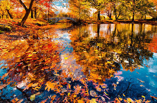 Ludmila Nayvelt - Boston Fall Foliage Reflection