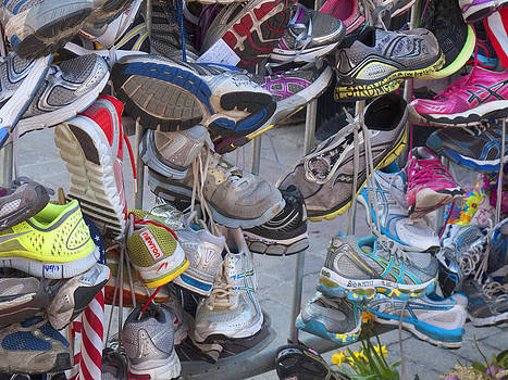 Boston Marathon Memorial Sneakers by Bucko Productions Photography