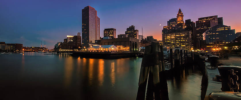 Expressive Landscapes Fine Art Photography by Thom - Boston Skyline at Twilight