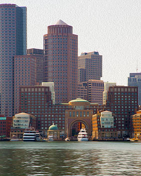 Edser Thomas - Boston Skyline - Digital Oil