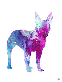 Boston Terrier 4 by Watercolor Girl