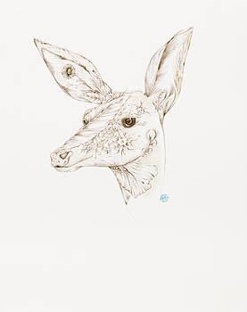 Botanicalia Deer by Karen Robey