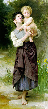Bother And Sister by William Adlophe Bouguereau