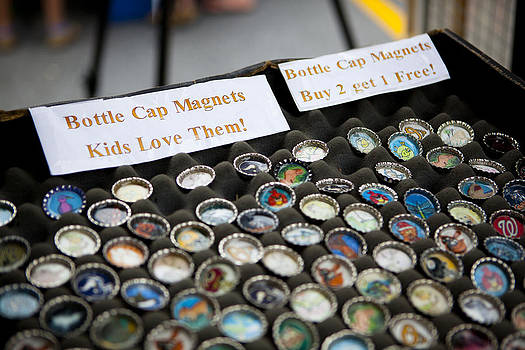 Bottlecap Magnets For Sale by Fred Hanna