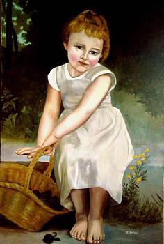 Bouguereau's Little girl  by Zelma Hensel