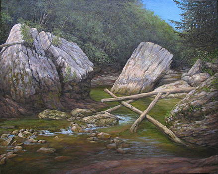 Boulders on Red River by Stephen Howell