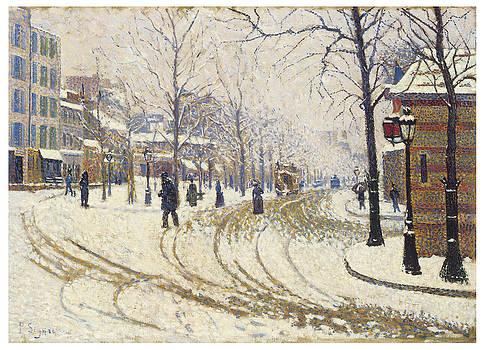 Paul Signac - Boulevard de Clichy Snow
