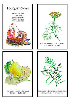 Bouquet Garni Seafood print by Lydia Meier