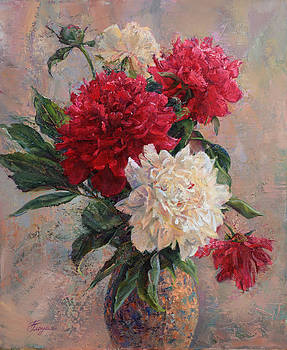 Bouquet of peonies by Galina Gladkaya