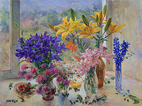 Bouquet of yellow lilies by Galina Gladkaya