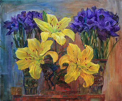 Bouquet Yellow Lilies by Galina Gladkaya